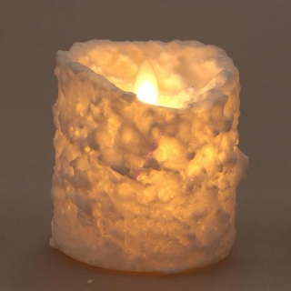 Dancing snow candle